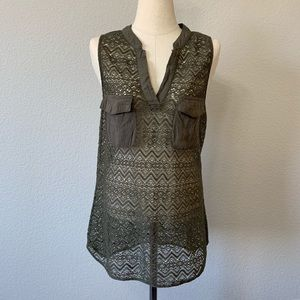 [Venus] Lace Sleeveless Top Sz M